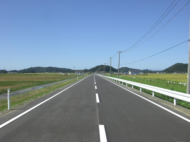 大手口小倉線道路改良舗装工事2